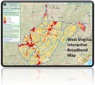 The West Virginia Interactive Broadband Map logo