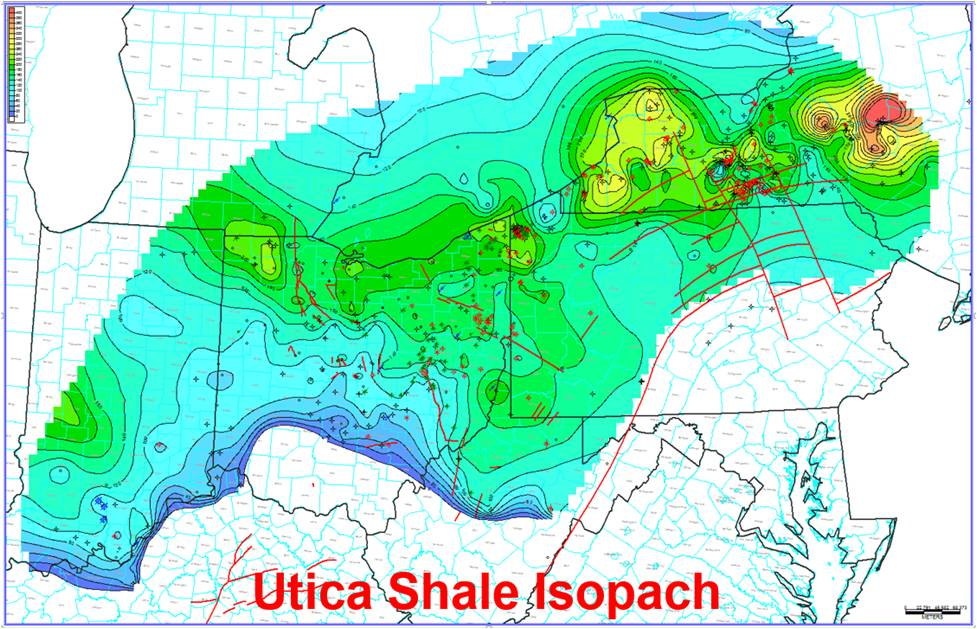 Subsurface Mapping And Correlations Through Geophysical Log - Utica shale map
