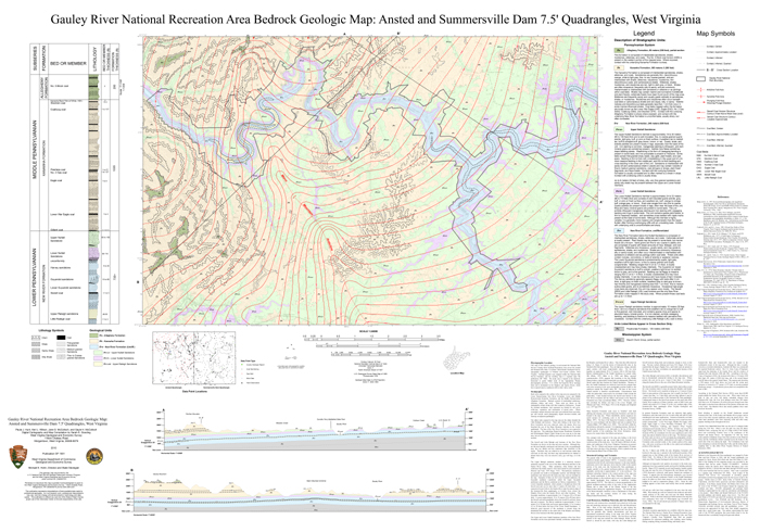 OF1001 Gauley River Bedrock Map NPS
