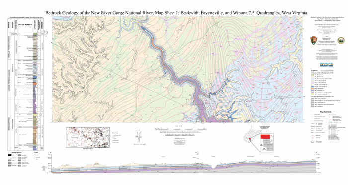 WVGESNational Park Service NPS Mapping - West virginia rivers map