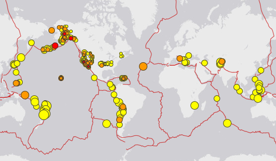 plates and quakes image
