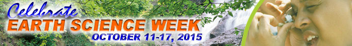 Banner for link to the Earth Sciences Week 2015 website