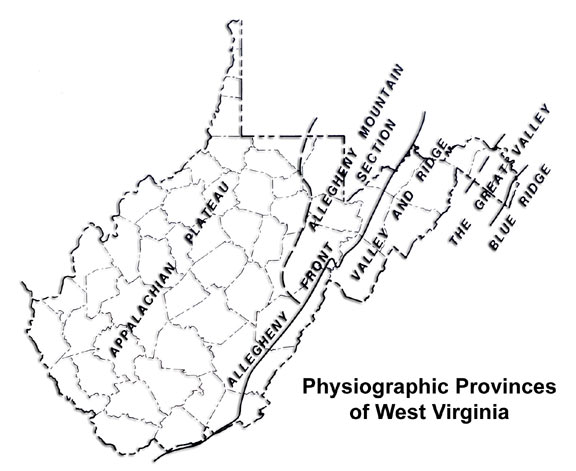maps of west virginia. Most of West Virginia is a